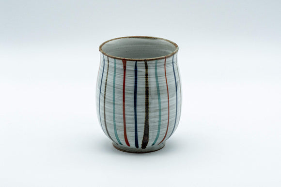 Japanese Teacup - Striped Tall Curvy Yunomi - 190ml