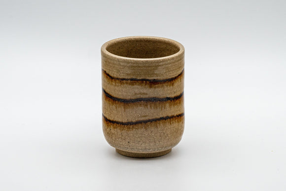 Japanese Teacup - Crazed Glazed Tsutsu-gata Yunomi - 160ml
