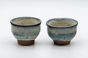 Japanese Teacups - Pair of Crazed Glaze Senchawan - 60ml