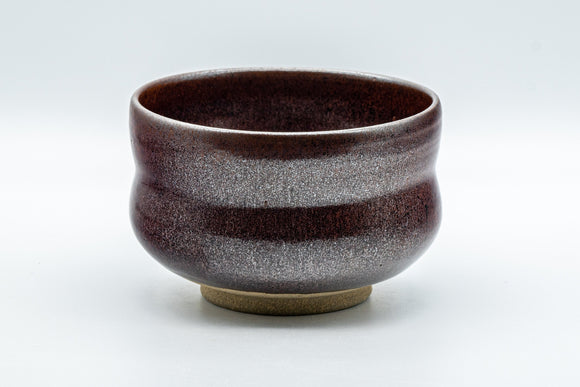 Japanese Matcha Bowl - Metallic Red Tenmoku Glazed Dojimara-gata Chawan - 400ml