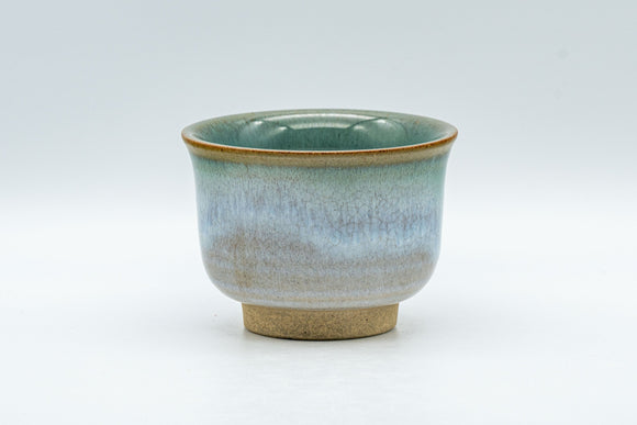 Japanese Teacup - Flared Blue-green Yunomi - 125ml - Tezumi