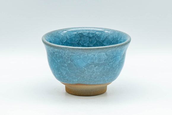 Japanese Teacup - 橘吉 Blue Snowflake Celadon Glazed Yunomi - 140ml