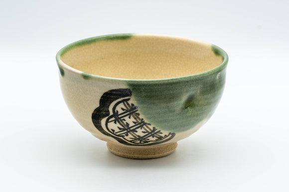 Japanese Matcha Bowl - 宗風 Sofu Wan-nari Oribe-yaki Chawan - 300ml