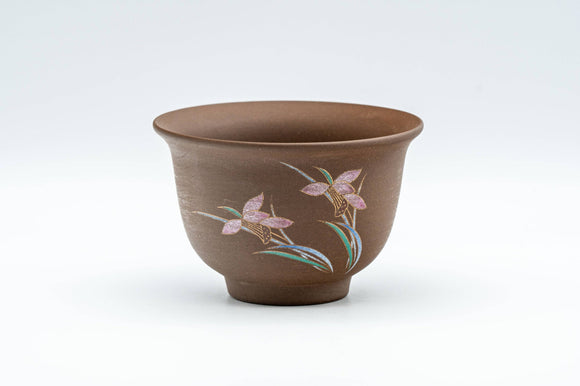 Japanese Teacup - Floral Stoneware Yunomi - 130ml