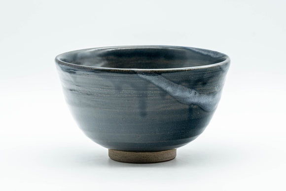 Japanese Matcha Bowl - Deep Blue Glazed Wan-nari Chawan - 350ml