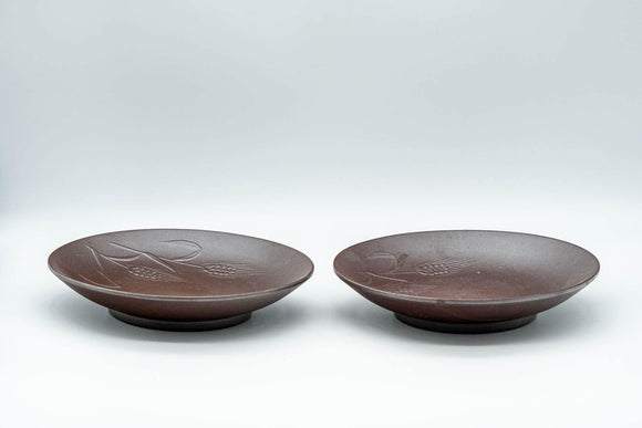 Japanese Chataku - Pair of Banko-yaki Tea Saucers - Tezumi
