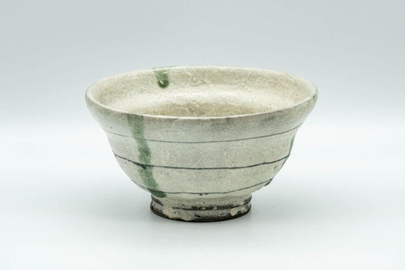 Japanese Matcha Bowl - White Textured Ido-gata Chawan - 200ml - Tezumi