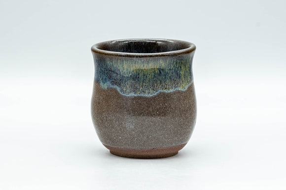 Japanese Teacup - Curvy Hare's Fur Drip Glazed Yunomi - 125ml