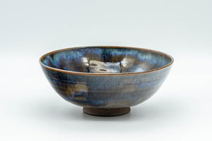 Japanese Matcha Bowl - Blue Drip-Glazed Summer Chawan - 150ml