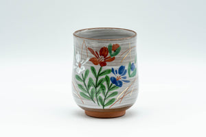 Japanese Teacup - Floral Brush Glazed Yunomi - 150ml