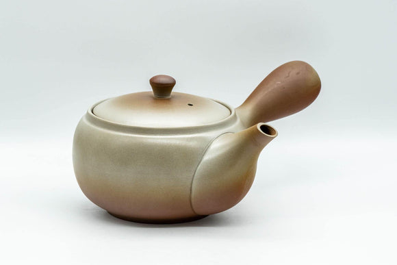 Japanese Kyusu - Large Brown Obi-ami 360 Filter Teapot - 550ml - Tezumi