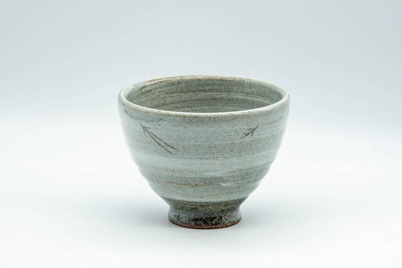 Japanese Teacup - Spiral Glaze Grey and White Yunomi - 180ml - Tezumi