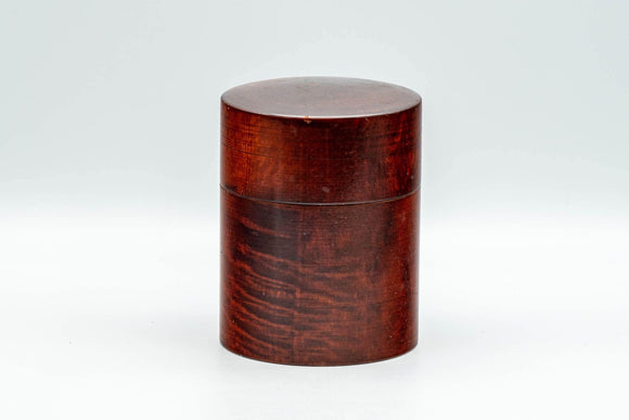 Japanese Chazutsu - Dark Red Wooden Tea Canister - 160ml - Tezumi
