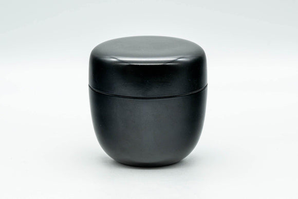 Japanese Natsume - Black Urushi Lacquer Tea Caddy - 100ml - Tezumi