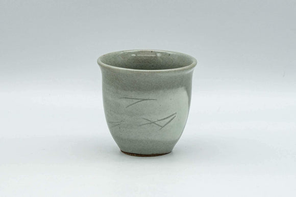Japanese Teacup - Grey and White Hakeme Guinomi - 65ml - Tezumi