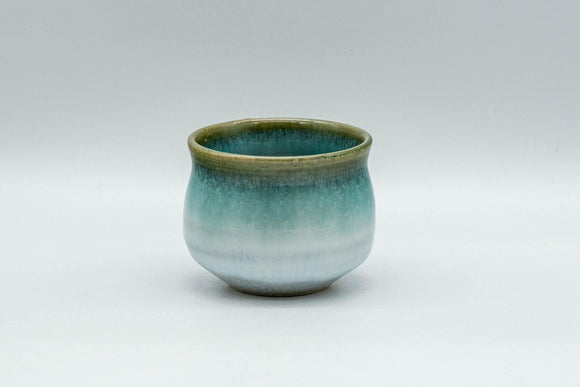 Japanese Teacup - Blue Green Agano-yaki Guinomi - 60ml - Tezumi