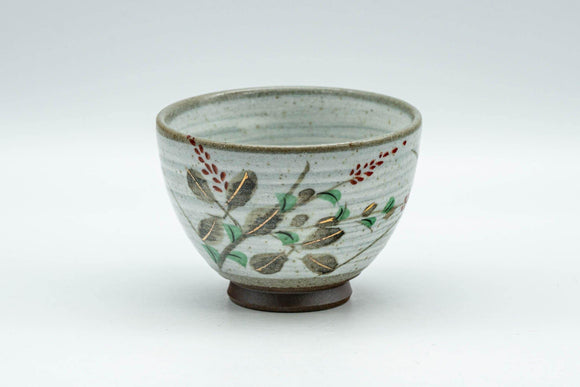 Japanese Teacup - Floral Grey Spiral Glazed Yunomi - 70ml - Tezumi