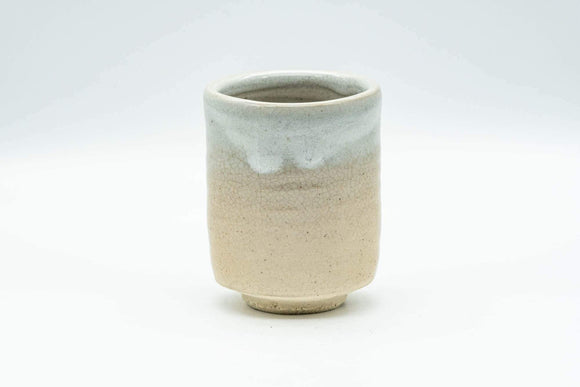 Japanese Teacup - Beige White Drip-Glazed Hagi-yaki Yunomi - 130ml - Tezumi
