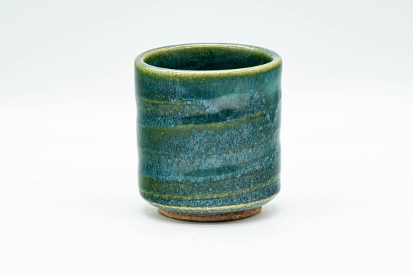 Japanese Teacup - Speckled Turquoise Green Glazed Yunomi - 140ml - Tezumi