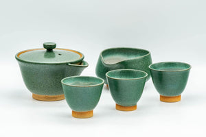 Japanese Tea Set - Houhin Teapot, Katakuchi Water Cooler, and 3 Yunomi Teacups - Tezumi