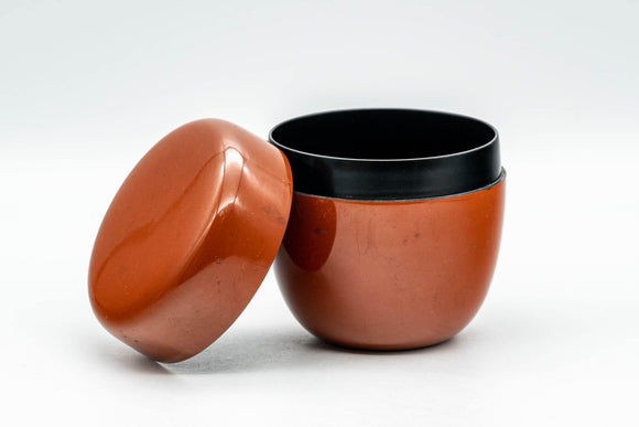 Japanese Natsume - Orange Lacquer Matcha Tea Caddy - 100ml - Tezumi