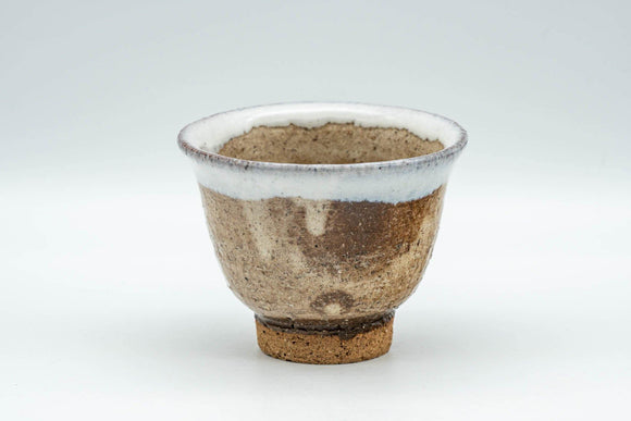 Japanese Teacup - Brown White Drip-Glazed Hagi-yaki Yunomi - 125ml - Tezumi