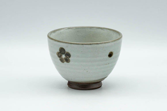 Japanese Teacup - Floral Grey Glazed Yunomi - 70ml - Tezumi