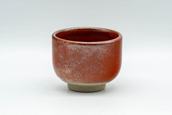Japanese Teacup - Red Glazed Guinomi - 65ml - Tezumi