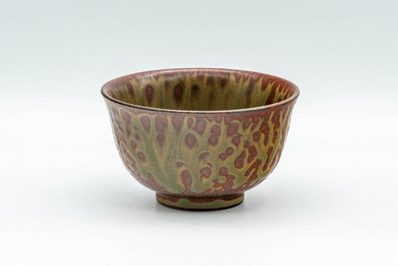 Japanese Teacup - Green Ash Glazed Tokoname-yaki Yunomi - 80ml