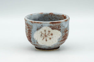Japanese Teacup - Blossoms Blue Shino Glazed Guinomi - 60ml - Tezumi