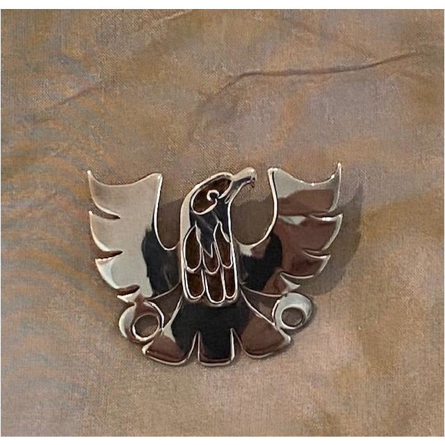 Sterling Silver Cut-Out eagle Pendant