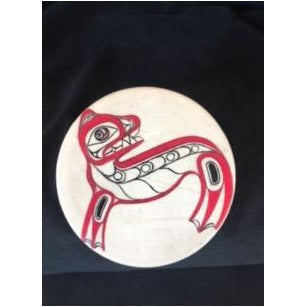 Small Hand Painted Sea Lion Drum