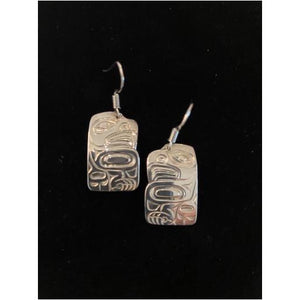 Sterling Silver Hanging Eagle Earrings