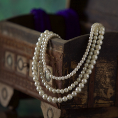 3 Layer Pearl Bead Necklace - NIIRVA - 1