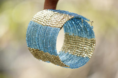 Block Beaded Cuff - NIIRVA - 1
