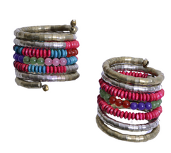 Spiral Beaded Bangle - NIIRVA