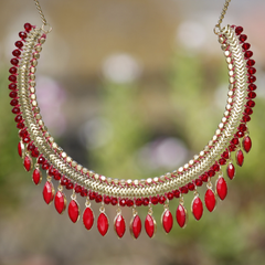 Beaded Collar Necklace - NIIRVA - 1