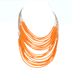 Beaded Multiple Wire Necklace - NIIRVA - 1