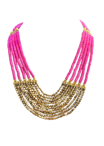 Layered Beaded Necklace - NIIRVA - 2