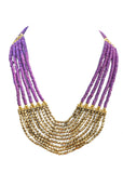 Layered Beaded Necklace - NIIRVA - 3