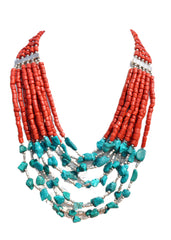 Chunky Turquoise Necklace - NIIRVA