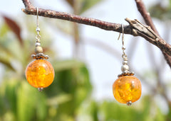 Small Beaded Dangle Earrings - NIIRVA - 1