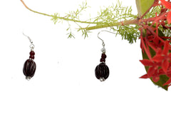 Cocoa Bead Earrings - NIIRVA