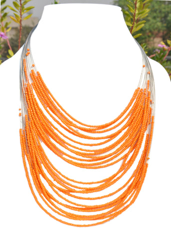 Beaded Multiple Wire Necklace - NIIRVA - 2