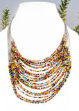Beaded Multiple Wire Necklace - NIIRVA - 4