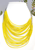 Beaded Multiple Wire Necklace - NIIRVA - 3