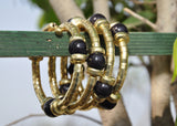 Black Beaded Bracelet - NIIRVA - 1