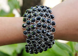 Wired Glass Beaded Bracelet - NIIRVA - 2