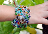 Wired Glass Beaded Bracelet - NIIRVA - 5