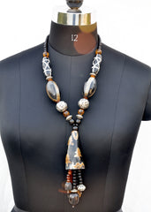 Ethnic dZi Necklace - NIIRVA